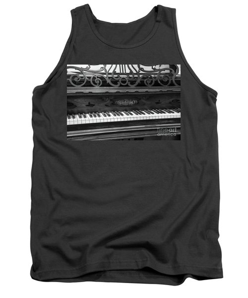 Antique Piano Black And White Tank Top