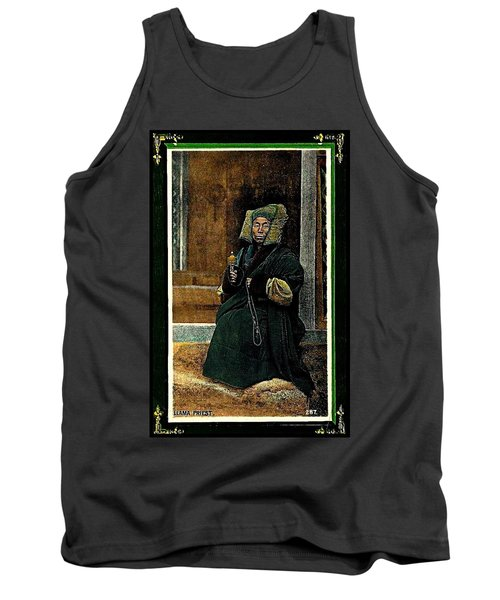 Tank Top featuring the painting Antique Tibetan Lama by Peter Gumaer Ogden