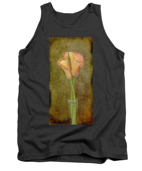 Antiqued Lilies Tank Top
