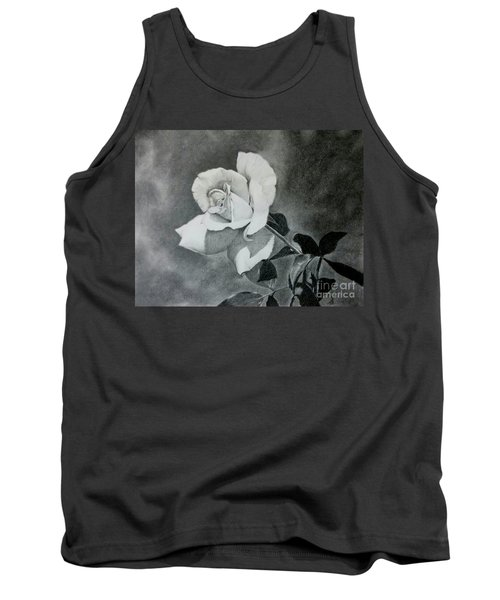 Tank Top featuring the drawing Aperitif Rose by Terri Mills