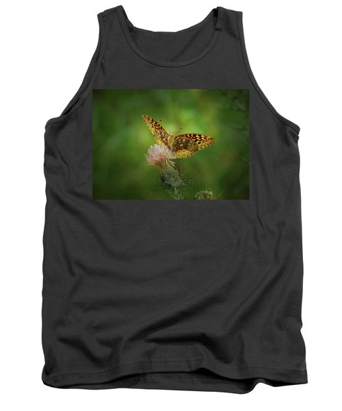 Tank Top featuring the photograph Aphrodite Fritillary Butterfly by Sandy Keeton
