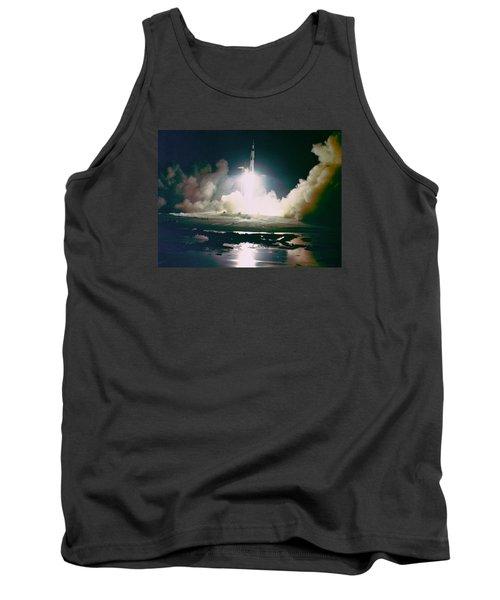 Apollo 17 Night Launch Tank Top