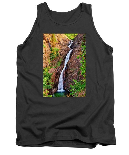 Tank Top featuring the photograph Appistoki Falls by Greg Norrell