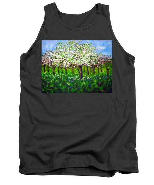 Apple Blossom Orchard Tank Top