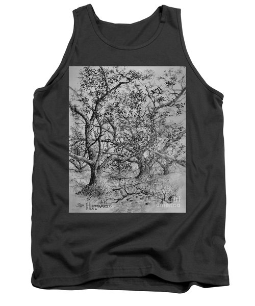 Tank Top featuring the drawing Apple Orchard by Jim Hubbard