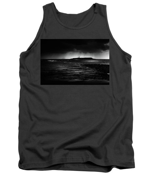 Approaching Storm, Ailsa Craig And Pladda Island Tank Top