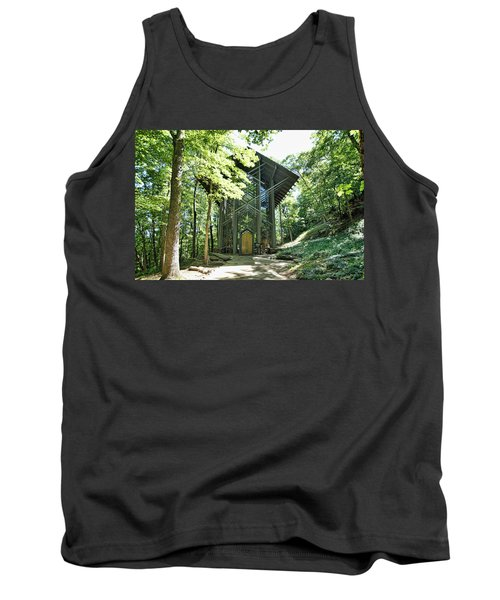 Tank Top featuring the photograph Approaching Thorncrown Chapel by Cricket Hackmann