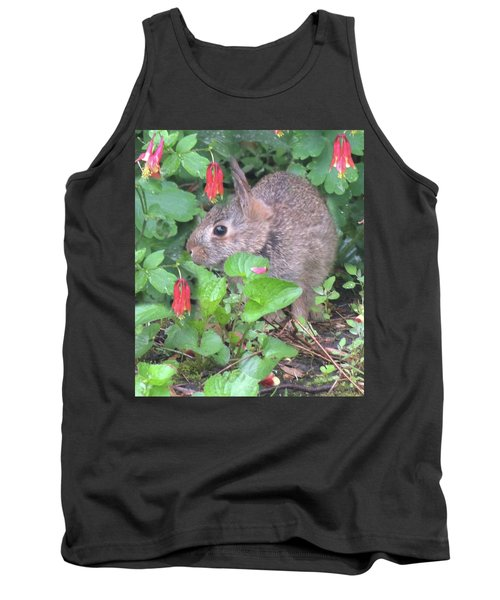 April Rabbit And Columbine Tank Top