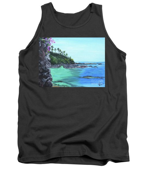 Tank Top featuring the painting Aqua Passage by Judy Via-Wolff