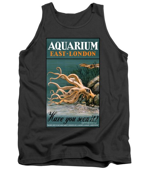 Aquarium Octopus Vintage Poster Restored Tank Top