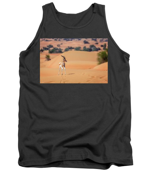 Tank Top featuring the photograph Arabian Gazelle by Alexey Stiop
