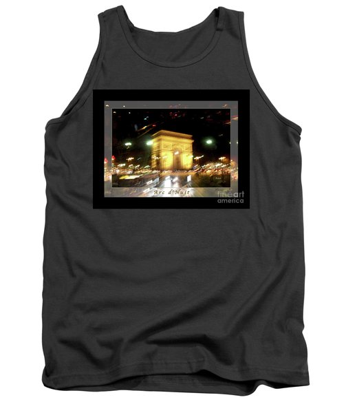 Arc De Triomphe By Bus Tour Greeting Card Poster V1 Tank Top