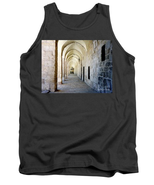 Arched Walkwayat A Church In Florence Italy Tank Top