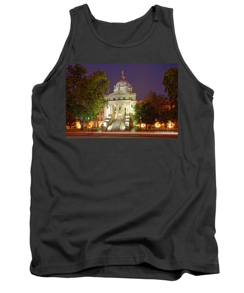 Architectural Photograph Of Mclennan County Courthouse At Dawn - Downtown Waco Central Texas Tank Top