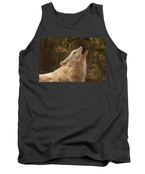 Arctic Wolf Howling Tank Top