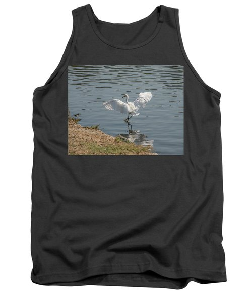 Are You Ready To Dance - Great Egret In Mtn View Ca Tank Top