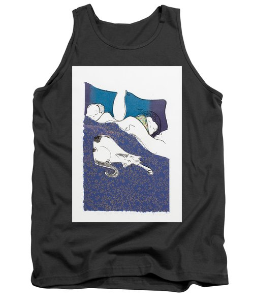 Aren't They Cute When They Are Sleeping Tank Top by Leela Payne