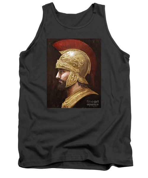Tank Top featuring the painting Ares by Arturas Slapsys