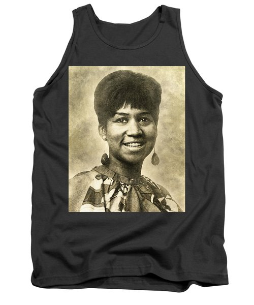 Aretha Franklin Queen Of Soul Tank Top