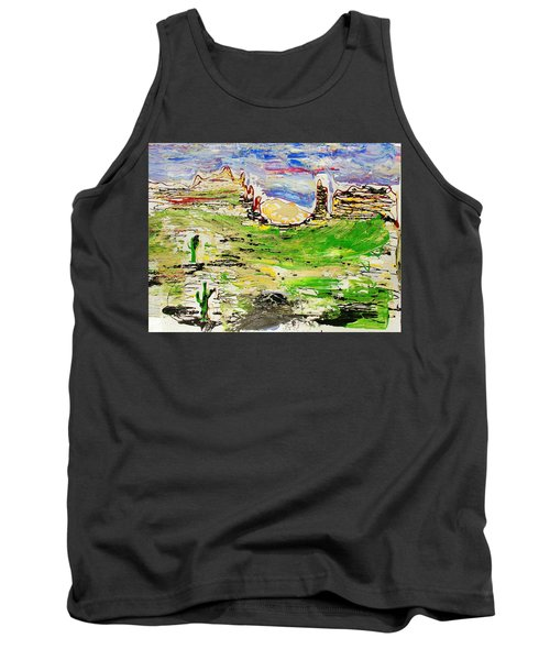 Tank Top featuring the painting Arizona Skies by J R Seymour