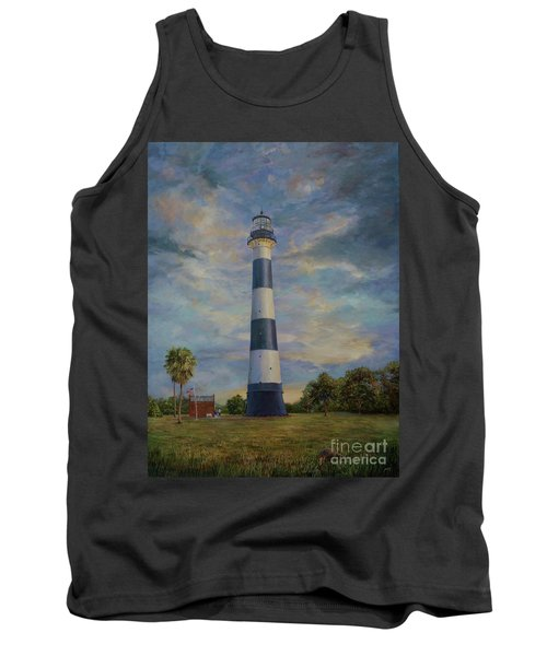 Armadillo And Lighthouse Tank Top by AnnaJo Vahle