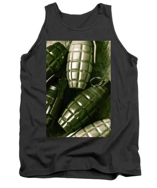 Army Green Grenades Tank Top
