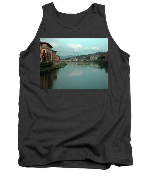 Tank Top featuring the photograph Arno River, Florence, Italy by Mark Czerniec