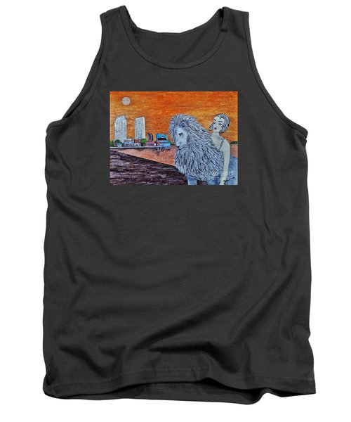 Tank Top featuring the painting Arrival To San Diego by Jasna Gopic