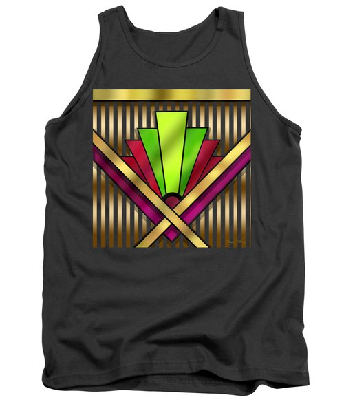Art Deco 13 Transparent Tank Top by Chuck Staley