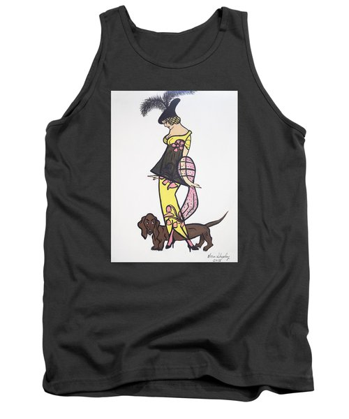 Art Deco  1920's Girls And Dogs Tank Top