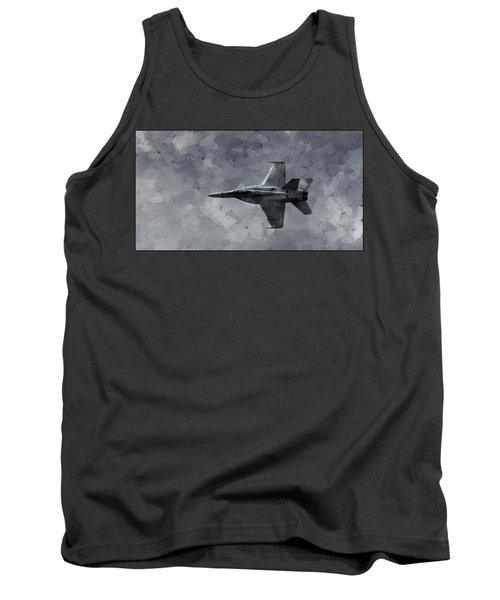 Tank Top featuring the photograph Art In Flight F-18 Fighter by Aaron Lee Berg