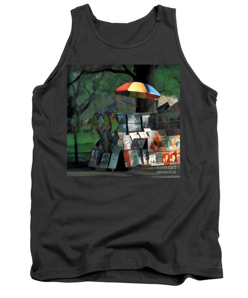 Art In The Park - Central Park New York Tank Top by Miriam Danar