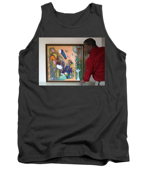 Artist Darrell Black With Dominions Creation Of A New Millennium Tank Top by Darrell Black