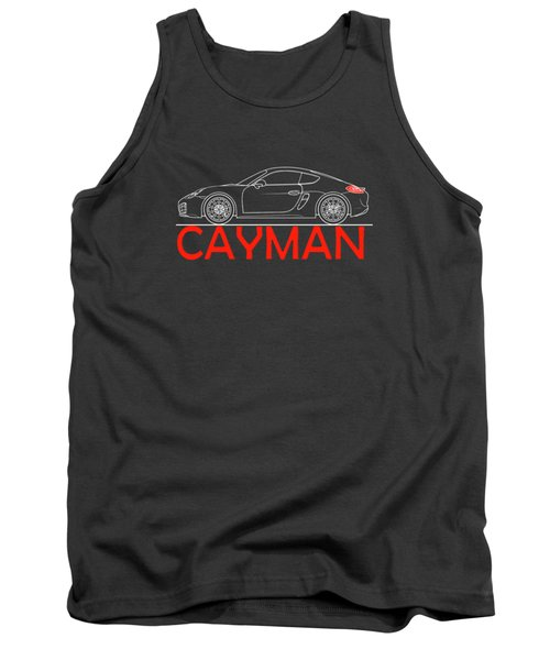Porsche Cayman Phone Case Tank Top