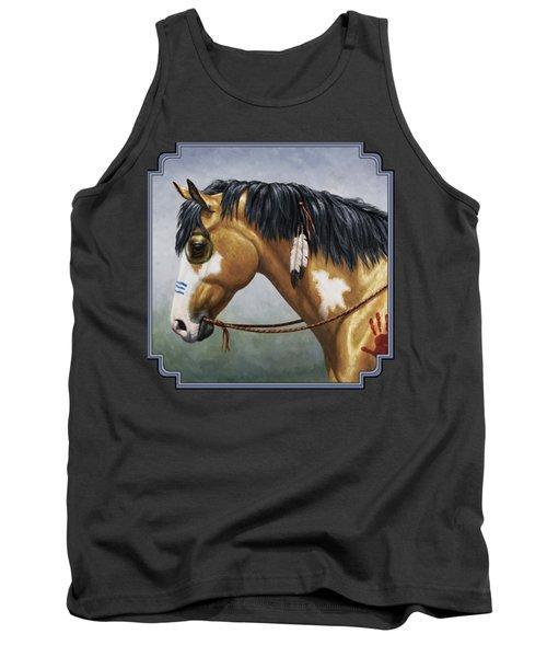 Buckskin Native American War Horse Tank Top