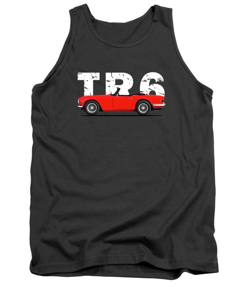 Triumph Tr6 In Red Tank Top