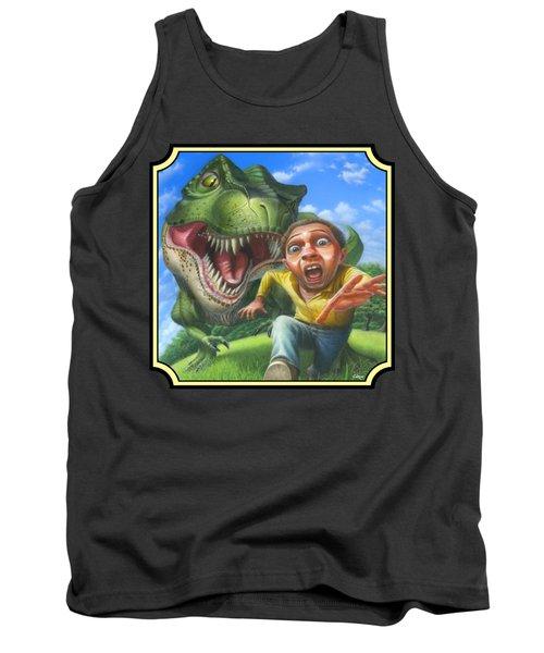 Tyrannosaurus Rex Jurassic Park Dinosaur - T Rex - T Rex - Extinct Predator - Square Format Tank Top