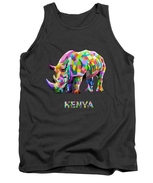 Tank Top featuring the painting Wild Rainbow by Anthony Mwangi