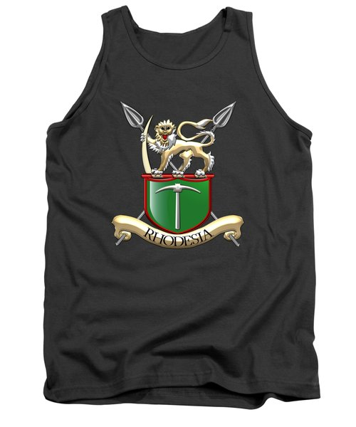 Rhodesian Army Emblem Over Green Velvet Tank Top