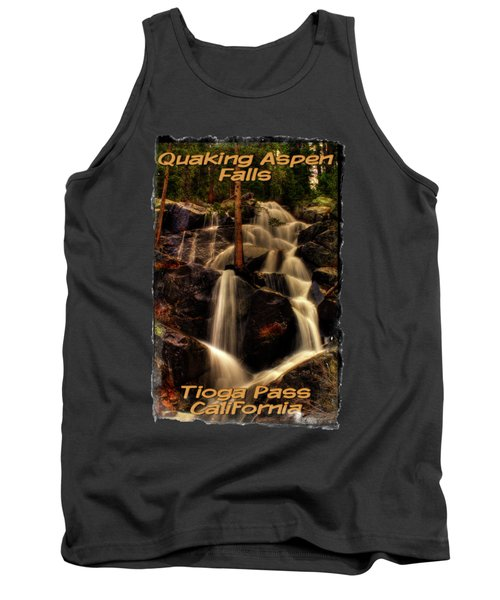 Quaking Aspen Falls Along Tioga Pass  Tank Top by Roger Passman