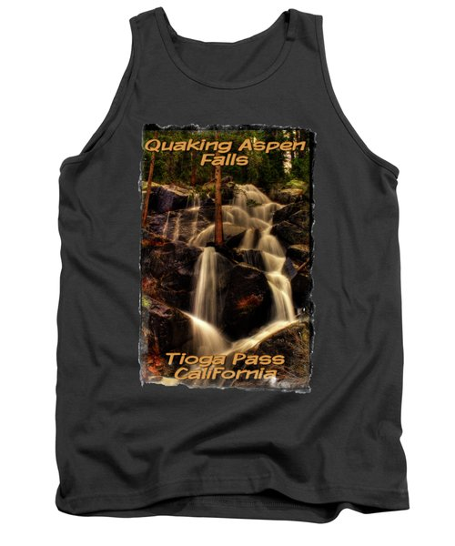 Quaking Aspen Falls Along Tioga Pass  Tank Top
