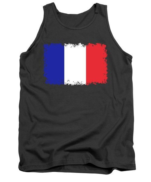 Flag Of France High Quality Authentic Image Tank Top