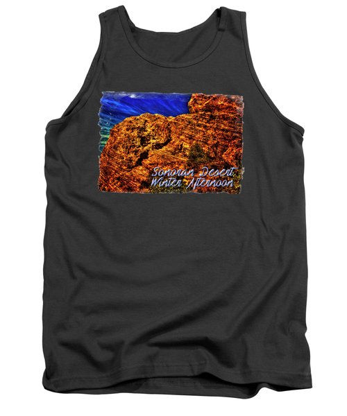 Navajo Sandstone And Cirrus Clouds Tank Top