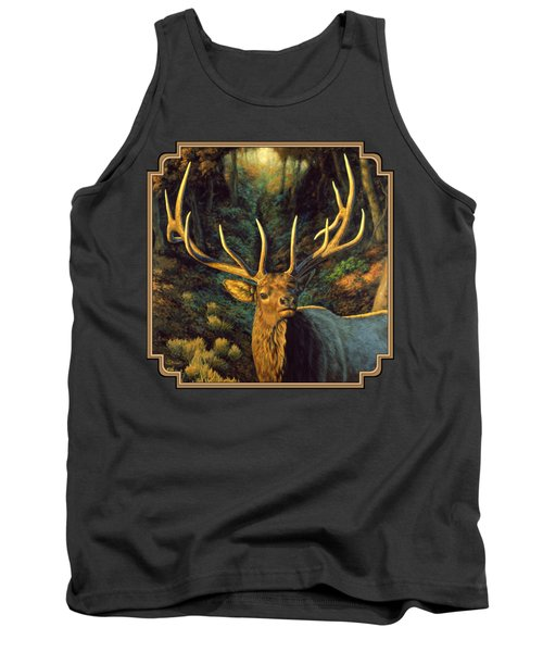 Elk Painting - Autumn Majesty Tank Top by Crista Forest