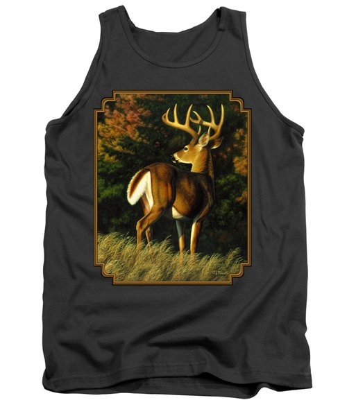 Whitetail Buck - Indecision Tank Top by Crista Forest