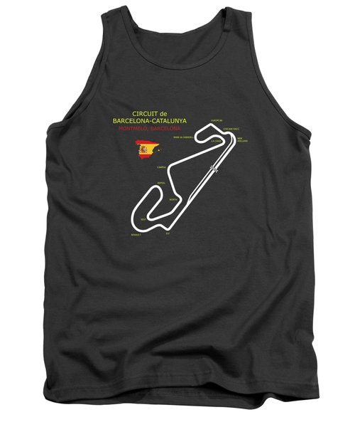 The Circuit De Barcelona Catalunya Tank Top