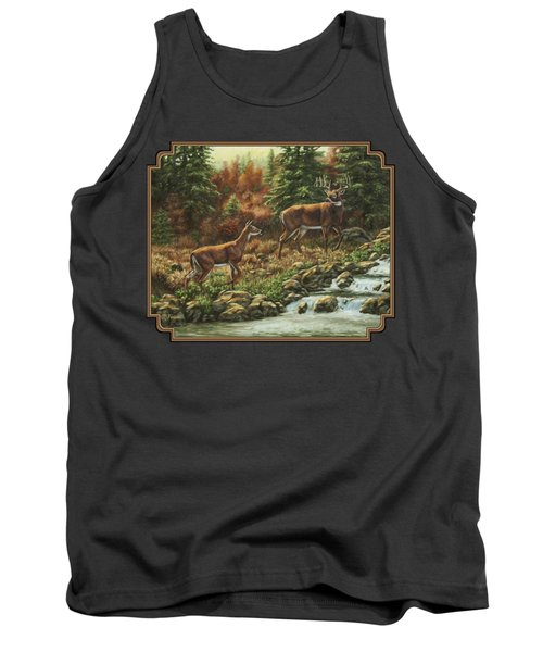 Whitetail Deer - Follow Me Tank Top by Crista Forest