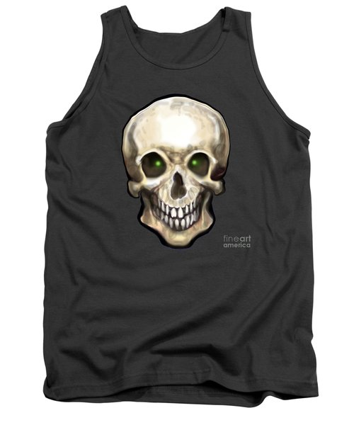 Tank Top featuring the painting Skull by Kevin Middleton