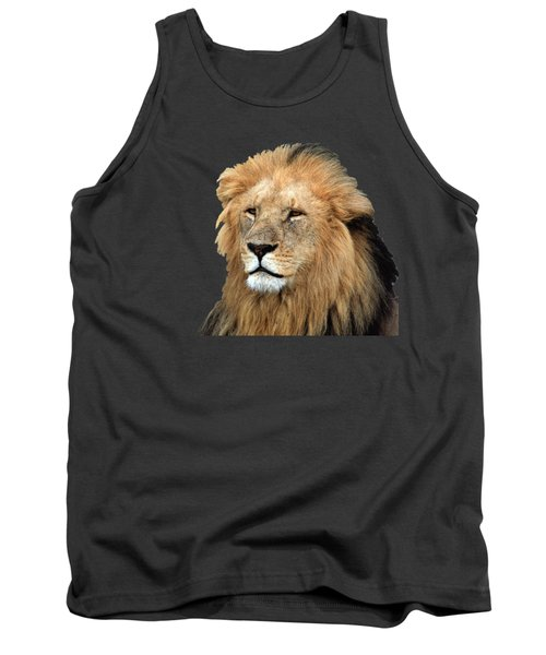 Masai Mara Lion Portrait    Tank Top by Aidan Moran