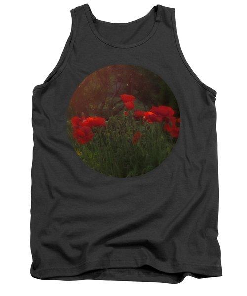 Sunset In The Poppy Garden Tank Top